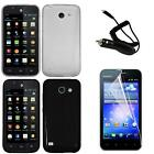 Phone Case For Hauwei Fusion 3 4G LTE Thin Flex Cover Car Charger Screen Guard