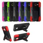 Phone Case For Huawei Fusion 3 4G LTE / Huawei Tribute Rugged Cover Kickstand