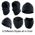 Outdoor Thermal Fleece 6 in 1 Balaclava Hood Face Ski Mask Neck Warmer Windproof