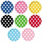 "Polka Dot 8 Round Paper PLATES {7""/18cm} (Decoration/Birthday/Party)"