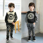 Girl Boy Kid Toddler Steal Stars Print 2 Pcs T-shirt Top+Harem Pants Thick Suit