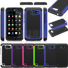 Rugged Hybrid Armor Hard Case Cover Skin For AT&T Huawei Tribute Fusion 3 Y536A1