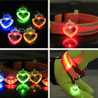 Puppy Trendy LED Safety Night Light Pet Dog Pendant Heart Type Pretty Pendant