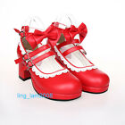 Baby ERA Punk Gothic Sweet DOLLY Lolita BOOTS Shoes 5.5-11, 34-44 6.5cm heel