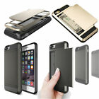 Extream Card pocket ShockProof Slim Hybrid wallet case cover for iPhone 6 6 Plus