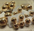 12MM 14MM 20MM GOLD ROSE GOLD LARGE IRREGULAR BALL HALF DOME STUD EARRINGS