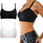 WOMEN SEXY BACKLESS BUSTIER CROP TOP CORSET BRA TANK SPAGHETTI STRAP CAMISOLES