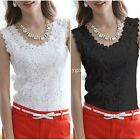 New Womens Ladies Floral Lace Vest Sleeveless Tank Blouse Shirt Vest Top Tops