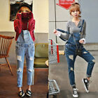 2015 HOT Girls Cute Denim Overall Suspender Jean Trousers Pants Ripped Jumpsuit