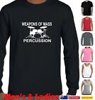 Funny T-Shirts Drum Kit Drummer pearl bass Singlet Weapons of mass Percussion