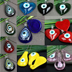 1PC COOL TEARDROP HEART LEAF LAMPWORK GLASS EVIL EYE  BEAD PENDANT FOR NECKLACE