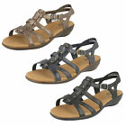 LADIES CLARKS SANDALS LEATHER FITTING -E STYLE - ROZA JAIDA