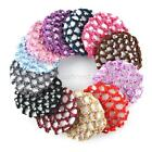 Beautiful Bun Cover Snood Hair Net Ballet Dance Elastic Crochet W/Diamond J44