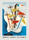 Jura Alps Ski Winter Sport France French Travel Vintage Poster Repro FREE S/H