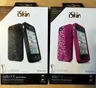 iSkin Solo FX SE Iphone 4/4S Thermoplastic Flex Case PINK or BLACK Antimicrobial