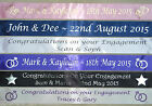 ENGAGEMENT PARTY ~ PERSONALISED BANNER ~ FAST DESPATCH