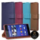 Vintage PU Leather Wallet Flip Stand Case Cover Card Pockets for Sony Xperia Z3