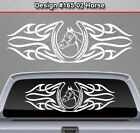 Design #165-02 Horse Horseshoe Rear Window Decal Sticker Graphic Tribal Accent