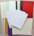 Gift Tags/Single Fold Deckle Edge Card Blanks in White, Pearl or Textured NEW