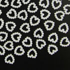 200 IVORY Acrylic Beaded Pearl HEARTS 12mm - WEDDING TABLE SCATTER CONFETTI