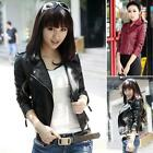 Vogue Style 2014 Women Slim Fit Synthetic Leather Jacket Coat Short outerwear