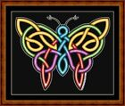 CELTIC BUTTERFLY - 14 COUNT CROSS STITCH CHART PDF/PRINTED  FREE PP WORLDWIDE