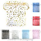 200Pcs Organza Stars Wedding Gift Jewellery Packaging Bags Size / Colour Choice