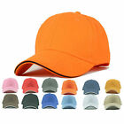 New Blank Curved Plain Baseball Cap Visor Hat Velcro Solid Color Adjustable