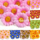 50pcs Artificial Gerbera Daisy 40mm Silk Flowers Heads Wedding Party Home Decor