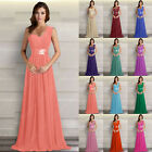 2015 Chiffon Bridesmaid Dress Prom Wedding Gown Evening Party Formal Size 6-26