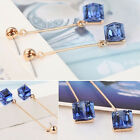 Fashion Jewelry Blue Sapphire Crystal Dangle Tassel Earrings