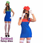 womens ladies mario & Luigi fancy dress costumes sizes 8-18
