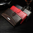 Luxury Flip Leather Skin Holder Case Cover For Samsung Galaxy Note 4 BRAND NEW