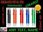 Top QUALITY Personalised Laser Engraved Pen with your text PROMOTIONAL GIFT