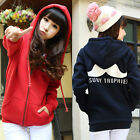 Korean Women Girl Casual Fleece Moustache Hooded Sweatshirt Jacket Coat Overcoat
