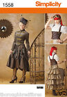 Simplicity 1558 Sewing Pattern Steam Punk Costume Corset Skirt Shirt Ladies 6-22