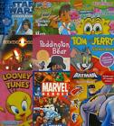 CHARACTER A4 STICKER BOOKS - Large Range - 16+ Characters {fixed £1 p&p}
