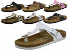 LADIES MOJO FOOTBED LEATHER INSOLE SUMMER BEACH THONG SANDALS SHOES SIZES 3 - 9