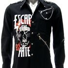 Sz S M L XL 2XL Escape The Fate Long Sleeve Shirt Punk Tee Many Size Jes1