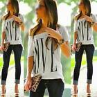 New Ladies Women Summer Casual Blouse Tee Shirt Cami Top Loose Tops UK 6 8 10 12