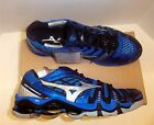 Mizuno Wave Tornado 8 Men's Volleyball Shoes NIB Blue/Black Size 9