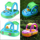 Fad Swimming Pool Kids CARE Float Seat Boat Tube Ring Car Type Sun shade JRAU