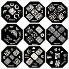 QA60-68 Nail Art Stamping Plates Image Printing Templet Mold Manicure New
