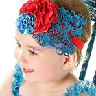 Lovely Baby Infant Peacock Feather&Rhinestone Hair Bands Headwear 9 Colors S