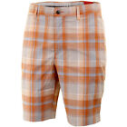 Callaway Golf Mens X-Series Madras Plaid Shorts Flat Front Design