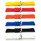 Mens Sports Watch Strap Band CURVED ENDED 22mm Divers Silicone Rubber Waterproof