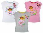 Girls Dora the Explorer Garden Adventure T-Shirt Top Tee 3 4 6 8 Years NEW