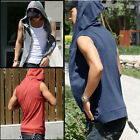 NEW Mens Beach sport Casual Slim Fit Hoody sleeveless T-shirt Vest Tops 4 color
