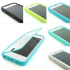 For Apple iPhone 5 5s TPU Wrap Up Hard Case Cover w/ Built In Screen Protector