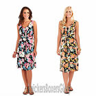 Ladies Floral Sleeveless Lined Short/Midi Dress Size 8,10,12,14,16,18,20,22 NEW